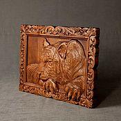 Panels handmade. Livemaster - original item Panels: The tiger in the frame. Handmade.