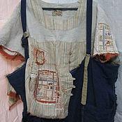 Одежда ручной работы. Ярмарка Мастеров - ручная работа рбашка изо льна  из льна  большой размер. Handmade.