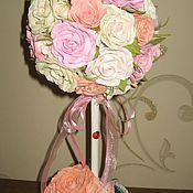 """Цветы и флористика ручной работы. Ярмарка Мастеров - ручная работа Топиарий """" Розовые мечты"""", дерево счастья.. Handmade."""
