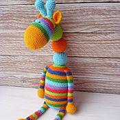 """Куклы и игрушки ручной работы. Ярмарка Мастеров - ручная работа Игрушка """"Жираф"""" из можжевеловых бусин. Handmade."""