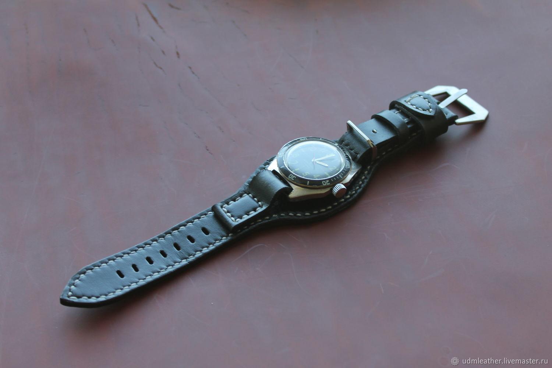 Hand made watch strap 18 mm, Watch Straps, Izhevsk,  Фото №1