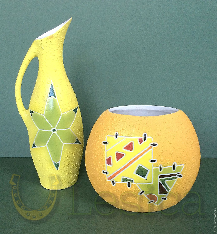 Vase and pottery jug, Vases, Ramenskoye,  Фото №1