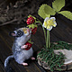 Игрушки животные, ручной работы. Ярмарка Мастеров - ручная работа. Купить Мышка Соня садовая. Handmade. Серый, игрушечная мышка