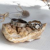 Украшения handmade. Livemaster - original item Wedding rings with moissanite