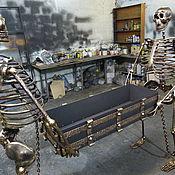 Для дома и интерьера ручной работы. Ярмарка Мастеров - ручная работа Мангал со скелетами. Handmade.