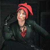 "Аксессуары ручной работы. Ярмарка Мастеров - ручная работа шапка шляпка ""Minx "" валяная шерстяная. Handmade."