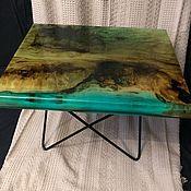 Столы ручной работы. Ярмарка Мастеров - ручная работа Столик из массива бука залитый эпоксидной смолой. Handmade.