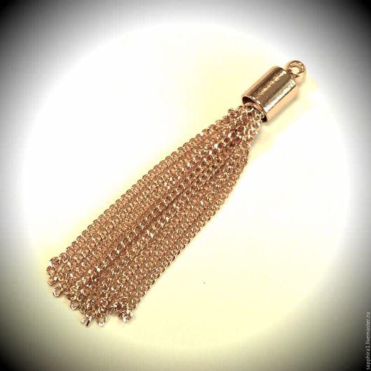 Для украшений ручной работы. Ярмарка Мастеров - ручная работа. Купить Кисточка подвеска gold-plated 55 мм. Handmade.