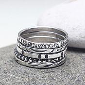 Украшения ручной работы. Ярмарка Мастеров - ручная работа Тонкие кольца для сетов серебро кольцо сеты. Handmade.