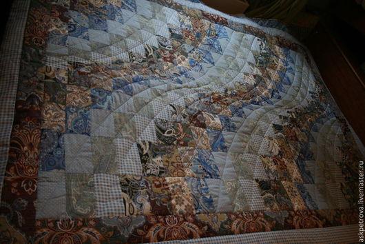 Текстиль, ковры ручной работы. Ярмарка Мастеров - ручная работа. Купить Одеяло-покрывало пэчворк  Голубая речка. Handmade. Покрывало