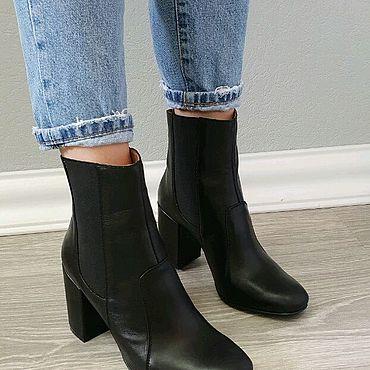 Обувь ручной работы. Ярмарка Мастеров - ручная работа Челси из натуральной кожи на каблуке 8 см.. Handmade.
