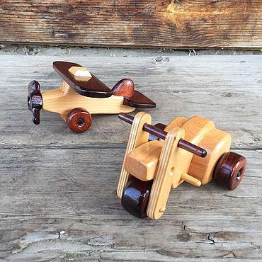 Куклы и игрушки ручной работы. Ярмарка Мастеров - ручная работа Набор техники №1 деревянный. Handmade.