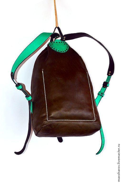 Рюкзаки ручной работы. Ярмарка Мастеров - ручная работа. Купить Рюкзак кожаный ручной работы № 130 цвет любой. Авторская работа. Handmade.