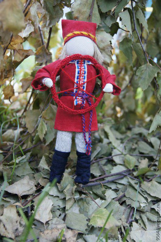 Народные куклы ручной работы. Ярмарка Мастеров - ручная работа. Купить Спиридон-солнцеворот. Handmade. Комбинированный, оберег, хлопок