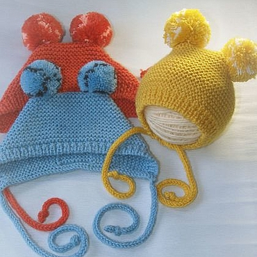 Clothing handmade. Livemaster - original item Bonnet for babies with pompom. Handmade.