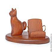 Сувениры и подарки ручной работы. Ярмарка Мастеров - ручная работа Подставка под смартфон Cat. Handmade.