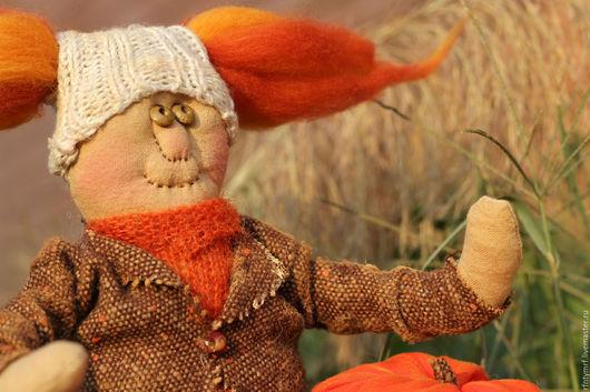 Ароматизированные куклы ручной работы. Ярмарка Мастеров - ручная работа. Купить Октябрина. Handmade. Рыжий, хелоуин, вязаная шапка