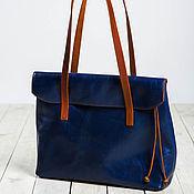 Классическая сумка ручной работы. Ярмарка Мастеров - ручная работа Folding blue. Handmade.