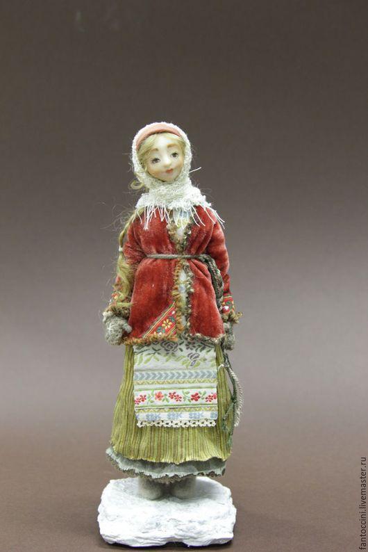 Коллекционные куклы ручной работы. Ярмарка Мастеров - ручная работа. Купить Настенька. Handmade. Коричневый, папье-маше