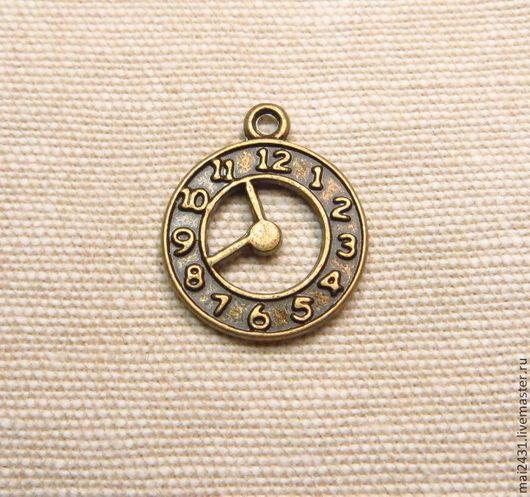 Подвеска часы, античная бронза