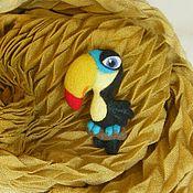 Брошь-булавка ручной работы. Ярмарка Мастеров - ручная работа Брошко-птицы. Handmade.