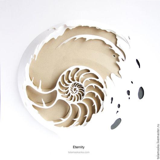 Символизм ручной работы. Ярмарка Мастеров - ручная работа. Купить Вечность. Handmade. Белый, ракушка, море, бесконечность, брызги, арт