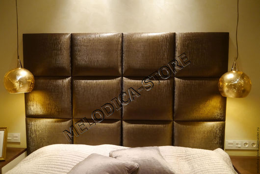 Мебель ручной работы. Ярмарка Мастеров - ручная работа. Купить Изголовье Domino-12. Handmade. Коричневый, изголовье кровати