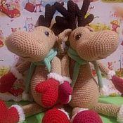 Мягкие игрушки ручной работы. Ярмарка Мастеров - ручная работа Игрушки: Олень в шарфе. Handmade.