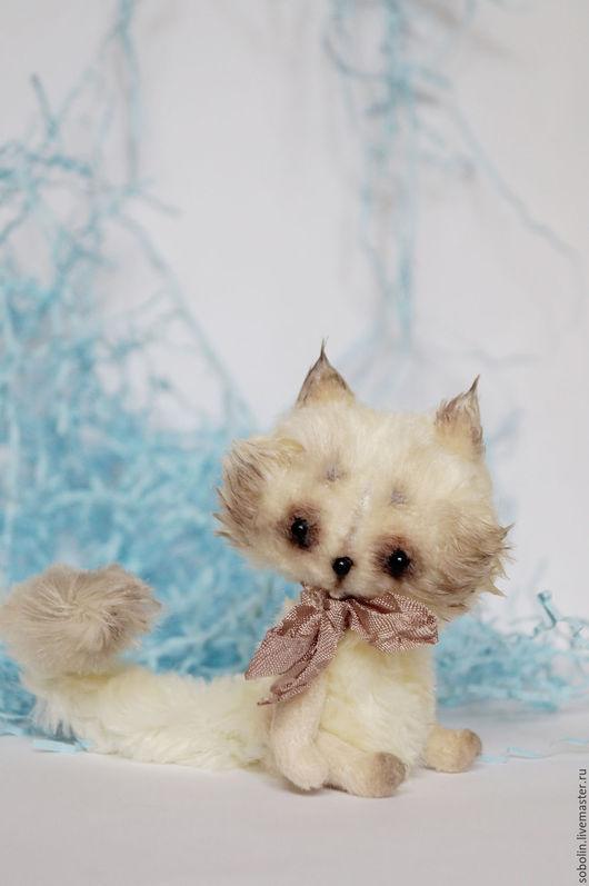 """Мишки Тедди ручной работы. Ярмарка Мастеров - ручная работа. Купить """"Cute friends"""" cream brulee cat - Крем-Брюле. Handmade."""