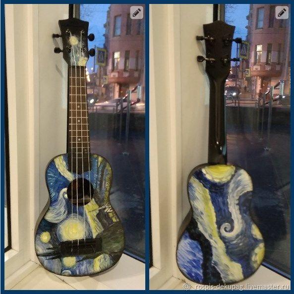 """Укулеле """"Звездная ночь"""" (сопрано) гавайская гитара, Укулеле (гавайская гитара), Санкт-Петербург,  Фото №1"""