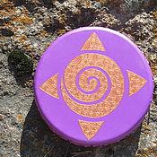 Музыкальные инструменты handmade. Livemaster - original item Sun mandala. Tambourine Vedic. 30 cm. Handmade.