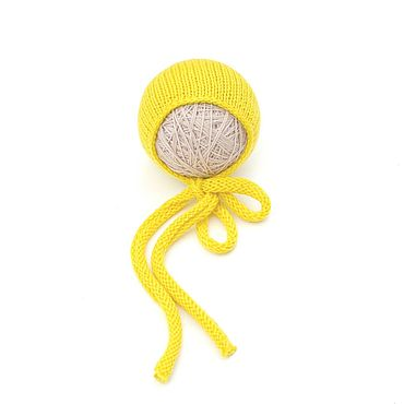 Clothing handmade. Livemaster - original item Hat for newborn photo shoots Bright yellow. Handmade.