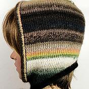 Аксессуары handmade. Livemaster - original item Hoods: Knitted women`s helmet hood made of wool and mohair. Handmade.
