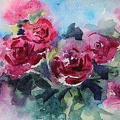 Картины и панно ручной работы. Ярмарка Мастеров - ручная работа Апрельские розы. Handmade.