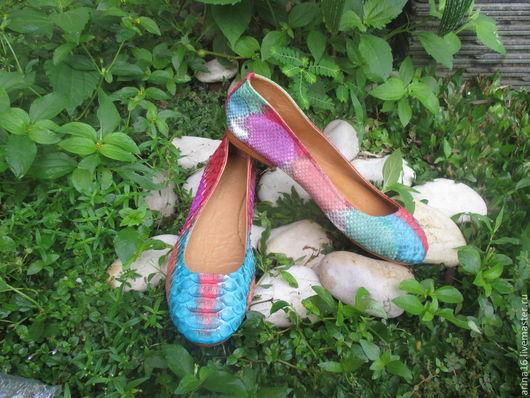 Обувь ручной работы. Ярмарка Мастеров - ручная работа. Купить Балетки Better. Handmade. Балетки из питона, балетки кожаные