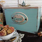 """Для дома и интерьера ручной работы. Ярмарка Мастеров - ручная работа """"Bread""""аква, хлебница. Handmade."""