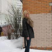 """Одежда ручной работы. Ярмарка Мастеров - ручная работа Куртка кожаная на поясе """" Енотик """". Handmade."""