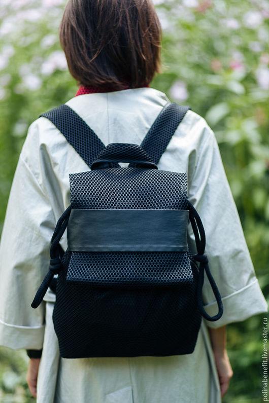 Рюкзаки ручной работы. Ярмарка Мастеров - ручная работа. Купить Рюкзак из сетки 3D, чёрный. Handmade. Рюкзак, рюкзак для девочки