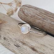 Украшения handmade. Livemaster - original item Silver Ring with moonstone.. Handmade.