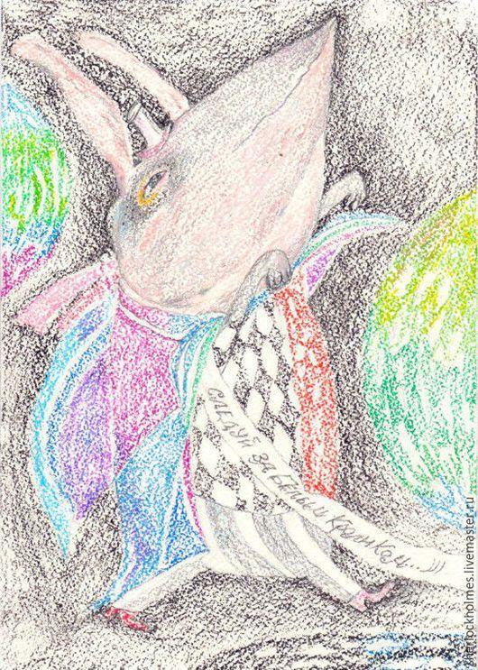 Фантазийные сюжеты ручной работы. Ярмарка Мастеров - ручная работа. Купить Следуй за Белым Кроликом..)). Handmade. Комбинированный