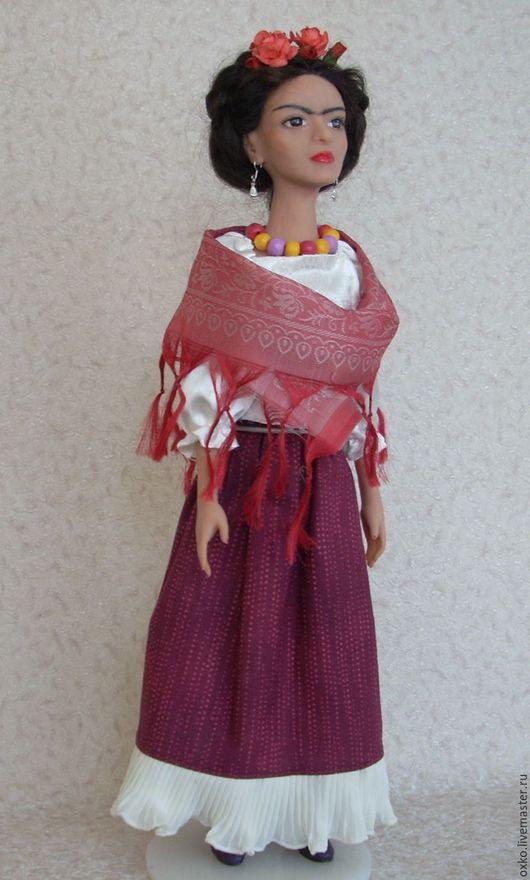 портретная кукла Фрида (Фрида Кало), авторская работа в единственном экземпляре