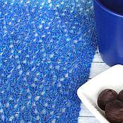 """Аксессуары ручной работы. Ярмарка Мастеров - ручная работа Шарф """"Deep Blue"""" (100% альпака). Handmade."""