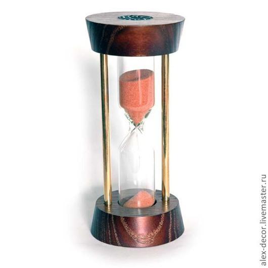Подарки для мужчин, ручной работы. Ярмарка Мастеров - ручная работа. Купить Песочные часы №7. Handmade. Коричневый, часы для дома