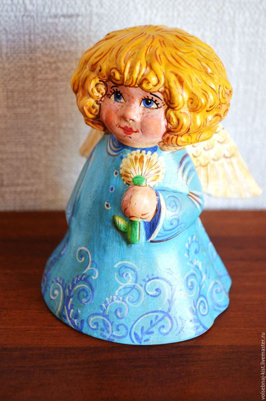 """Персональные подарки ручной работы. Ярмарка Мастеров - ручная работа. Купить Колокольчик  """"Солнечный ангел"""". Handmade. Голубой, ангелочек"""