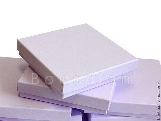 Подарочная упаковка ручной работы. Ярмарка Мастеров - ручная работа. Купить Плотная картонная коробка 15х15х3 см.. Handmade. Сиреневый