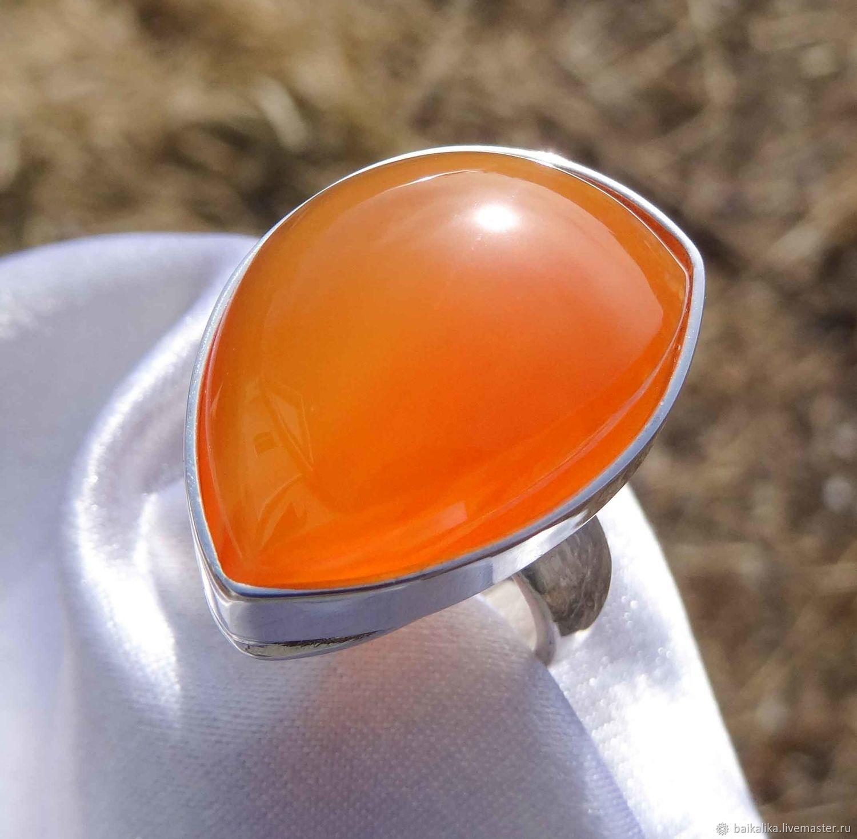 Carnelian red! Bright, natural carnelian! Silver, Rings, Irkutsk,  Фото №1
