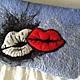 сумочка-косметичка в стиле поп арт. Ах мои губки
