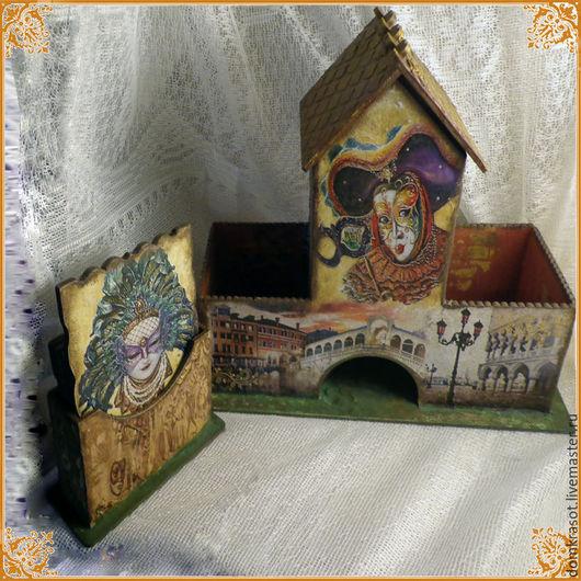 """Кухня ручной работы. Ярмарка Мастеров - ручная работа. Купить """"Мечты о Венеции и карнавале"""" Подарочный набор для приятного чаепития. Handmade."""