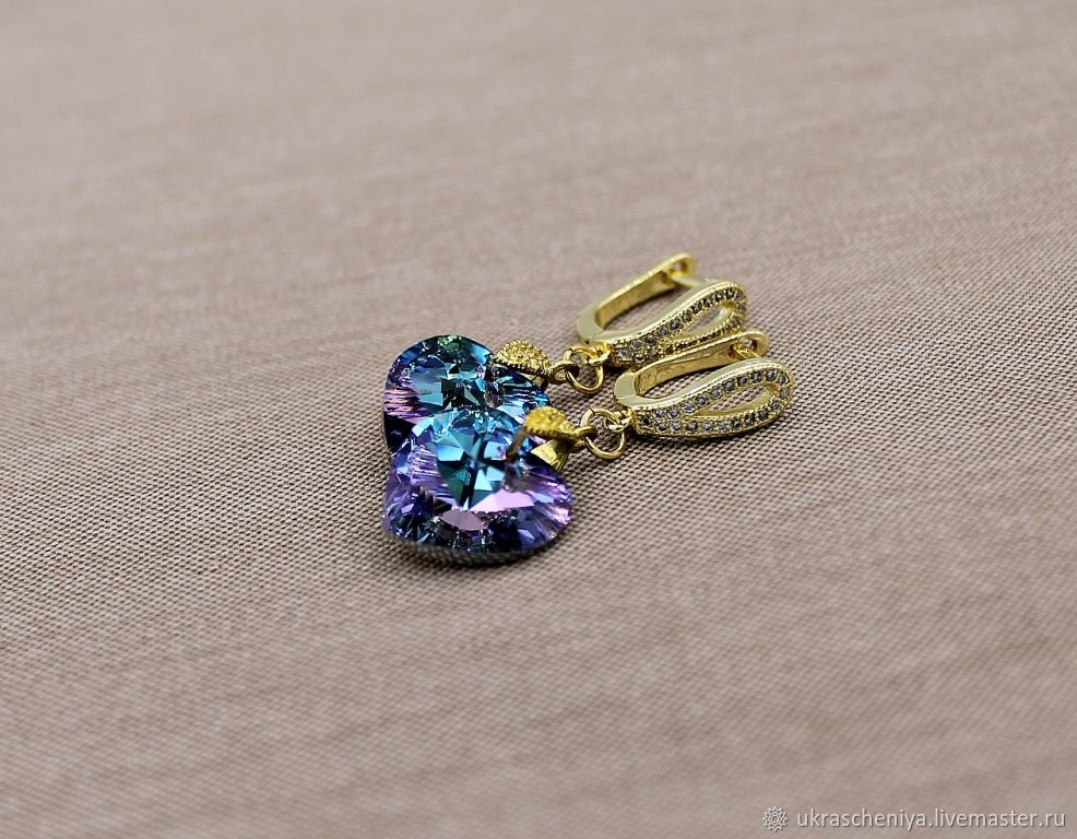 Earrings with Swarovski crystals, Earrings, Ryazan,  Фото №1