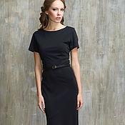Одежда handmade. Livemaster - original item Formal black floor-length dress in thick Jersey.. Handmade.